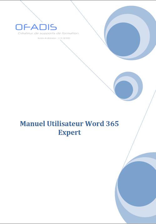 Manuel Word 365 EXPERT