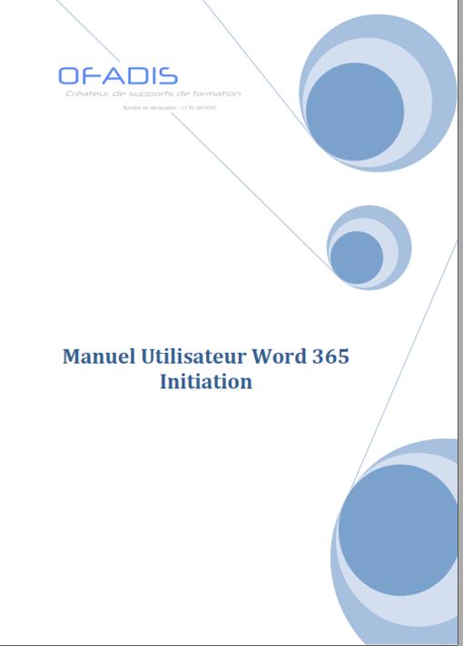 Manuel Word 365 Initiation