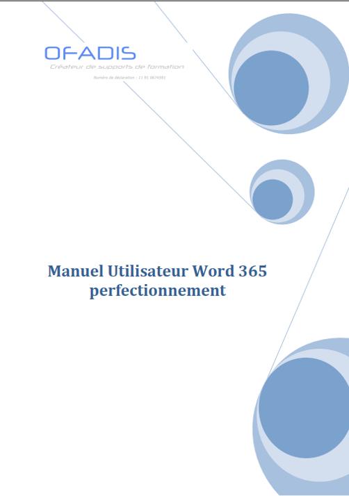 Manuel Word 365 Perfectionnement